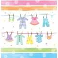 Baby Clothes Baby Shower Tablecover